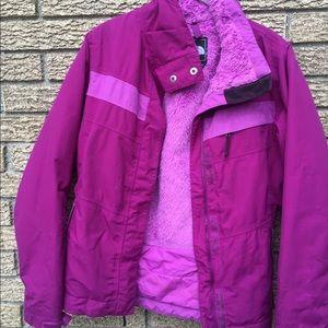 The North Face women's fuschia coat